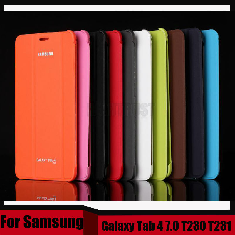 3 in 1 Business Smart Leather Book Cover Case For Samsung Galaxy Tab 4 7.0 T230 T231 T235 + Stylus + Screen Film