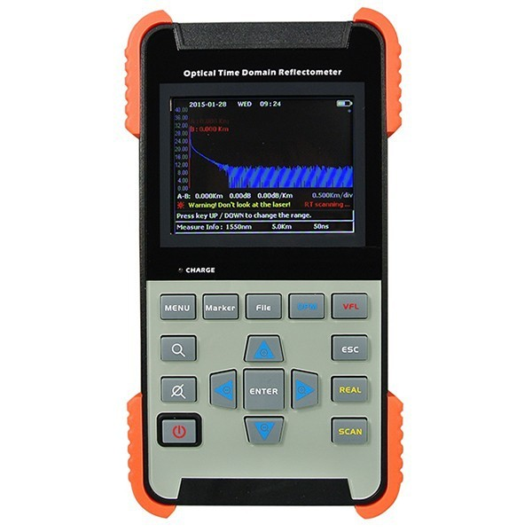 Tribrer Mini OTDR Optical Time Domain Reflectometer AOR-500B Singlemode 1310/1550nm 32/30dB 120KM