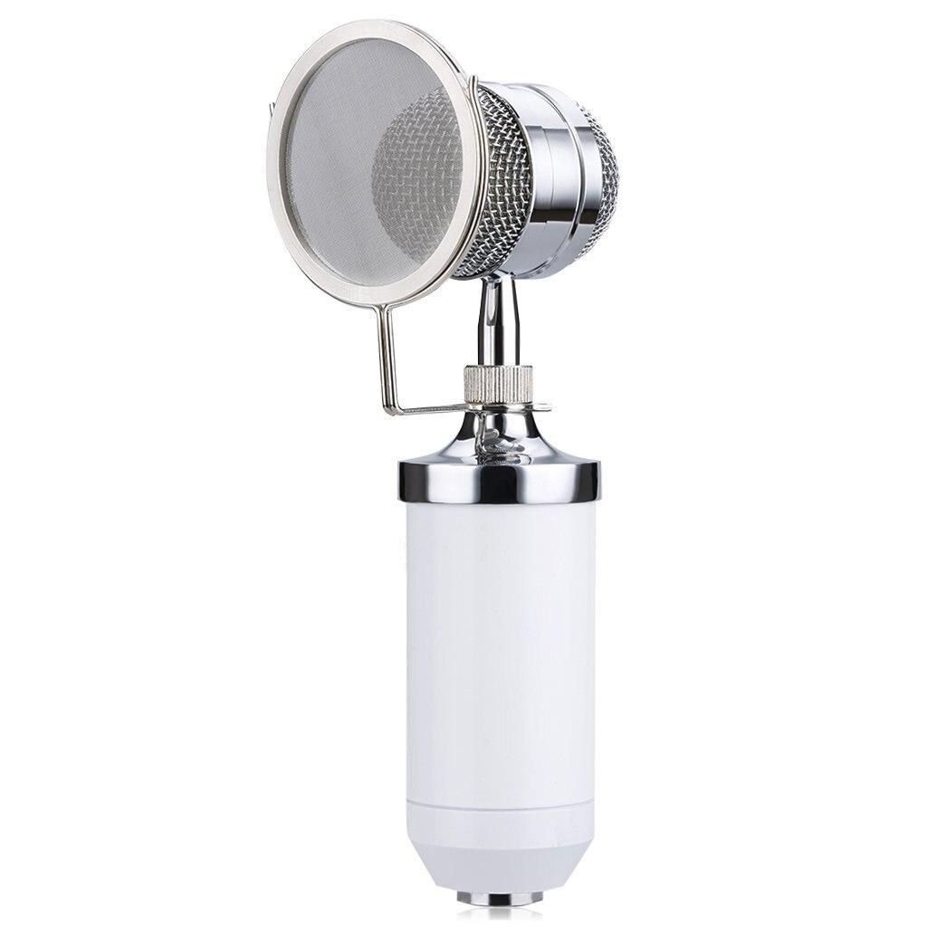 Bm8000 Microfoon + Lijn + Microfoon Sets + Metalen Shock Mount Kit Wit Geurig Aroma