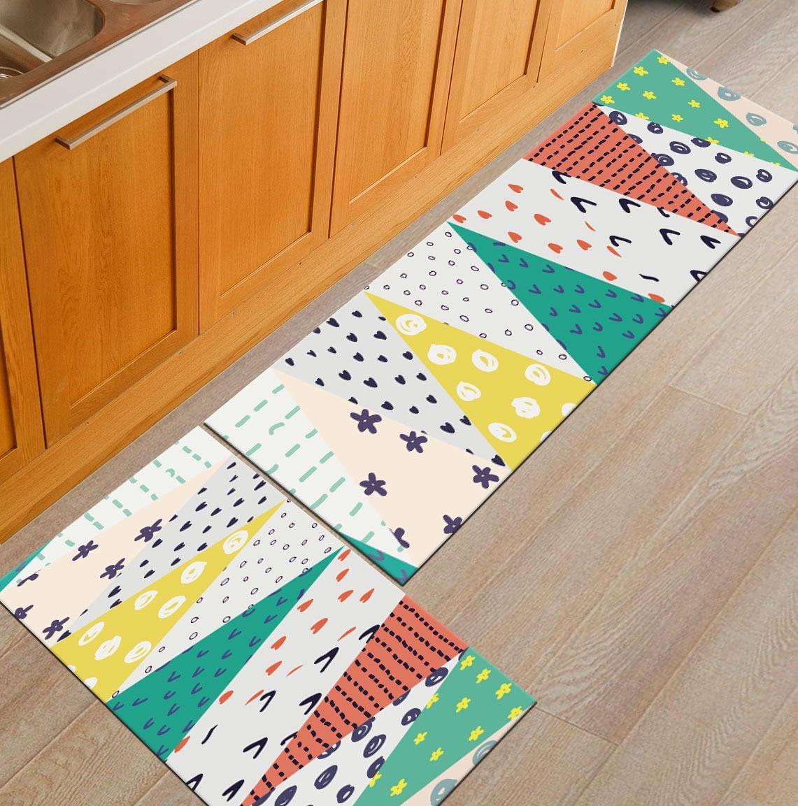 Современный геометрический Коврик для кухни, Противоскользящий коврик для ванной комнаты, домашний Коврик для прихожей/прихожей, коврик для шкафа/балкона, креативный ковер - Цвет: 4