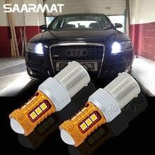 Пара 1156 BA15S P21W 1200LM светодиодный лампы дальнего DRL дневного света фара 6000 K белый для Audi A1 A3 A6 S3 Q7