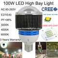 2015 hot sale 100% real 100W CREE led high bay light, 10156-10524lm,AC85-265V input voltage ,UL certificate , use in warehouse