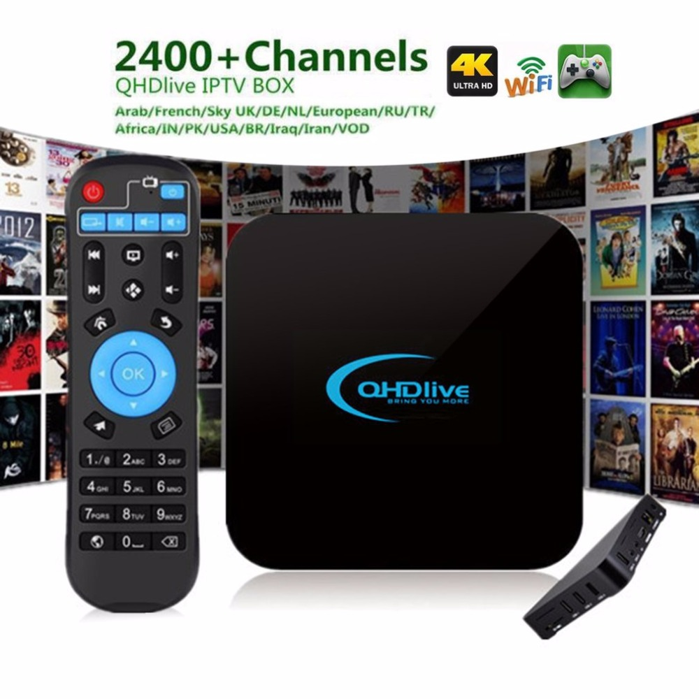 Professional IPTV 1G+8G TV Box Intelligent Coding 2400+ Live Channels Network Android OS 6.0 Set Top TV Box with Remote Control khaldoun agha al network coding