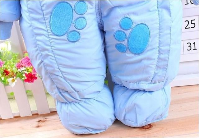 Animal Printed Winter Romper for Babies 6