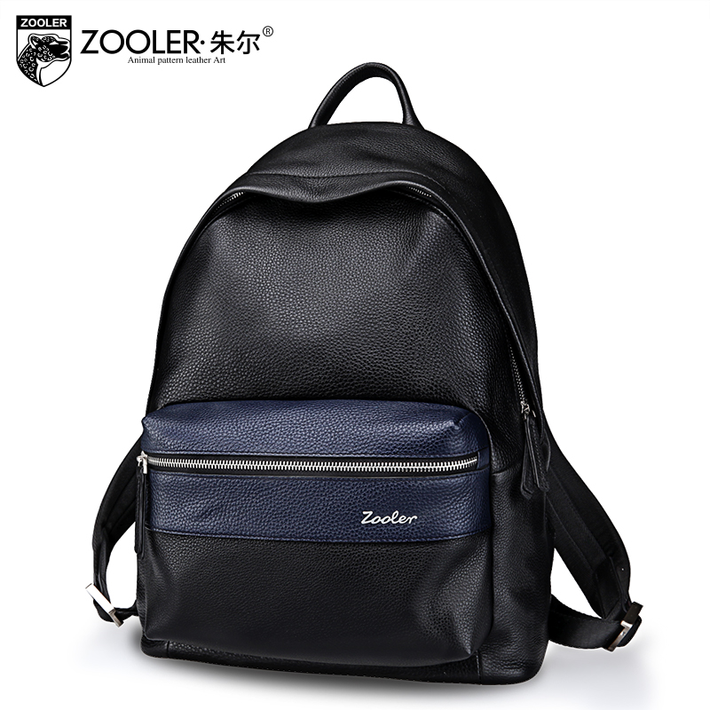 ZOOLER top quality genuine leather backpack men 2017 new gentlemen style backpacks top cowhide Brand large capacity bag #10112 zooler genuine leather backpacks for men boy 2016 new backpack real leather famous brand china hot large capacity bag 8339