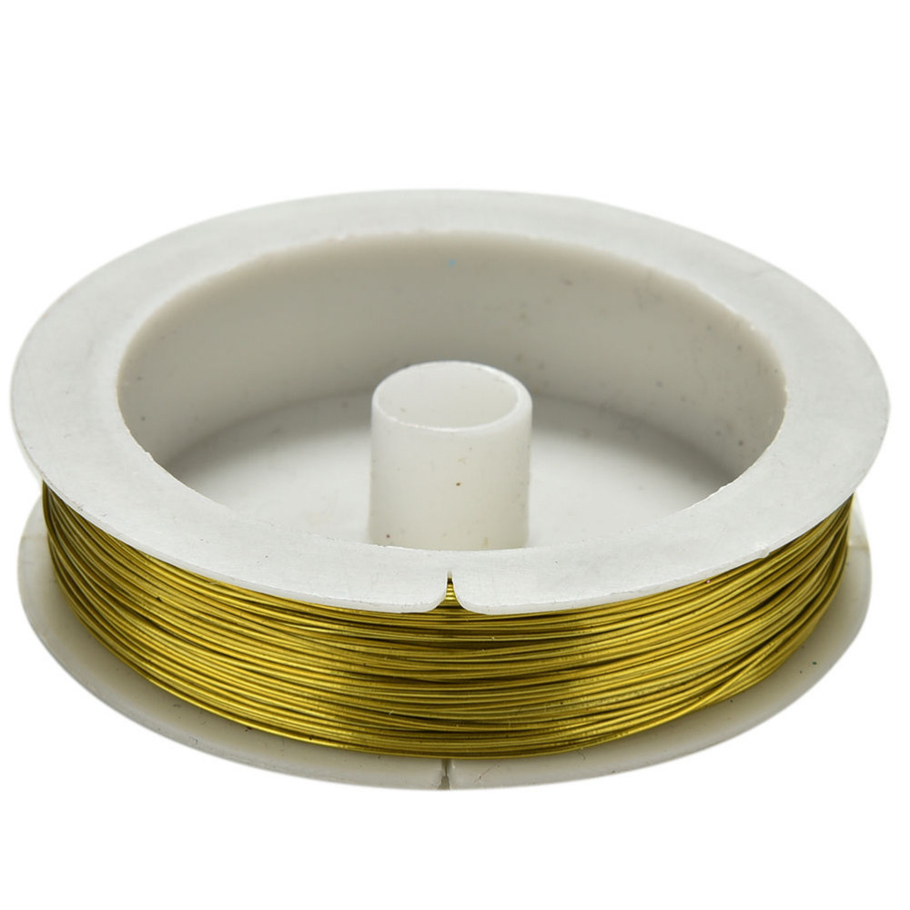 Metal Wire for DIY Decorative Flowers Wreaths Package Iron Craft Wire 0.5mm Spool Soft DIY String Jewelry Craft 40m