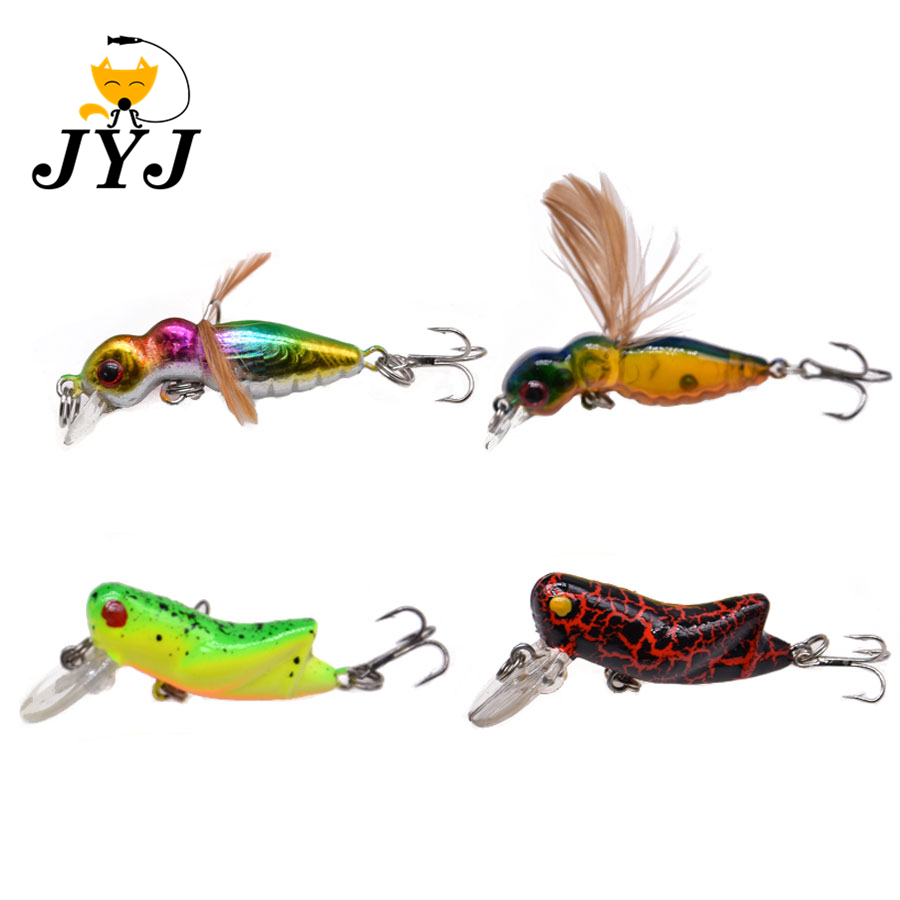 4.5cm 3.3g Artificial Hard Plastic Cicada Lure Bait , Topwater Surface Insect Lure Pesca Isca Swimming Baits
