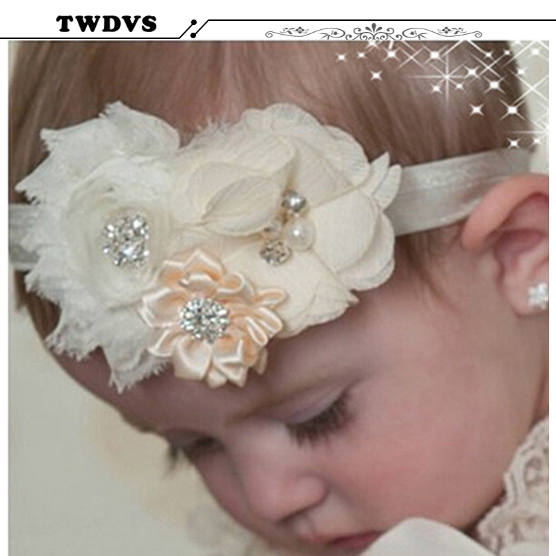 Baby Headband Hair Bowknot lace Headbands Infant Hair Accessories Girls grosgrain ribbon Bow Headband Toddler hair bands w--037