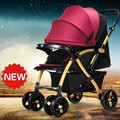 2017 High Quality Baby Stroller Can Sit Lying Portable Baby Car Widen Seat Folding Strollers Shockproof Prams Kinderwagen C01
