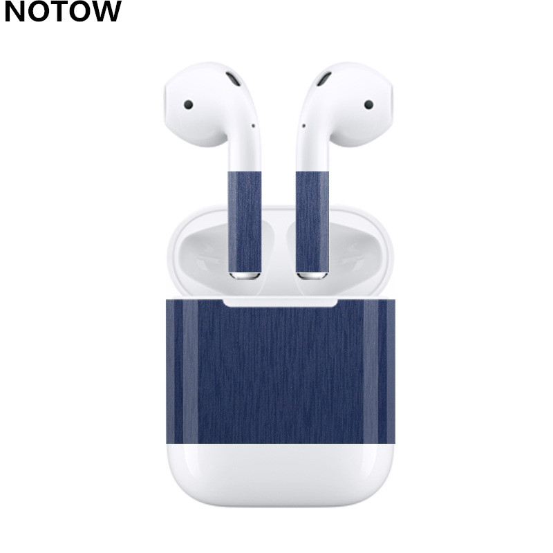 Notow For Airpods 2 Wireless Bluetooth Headset Luxury Wire Drawing