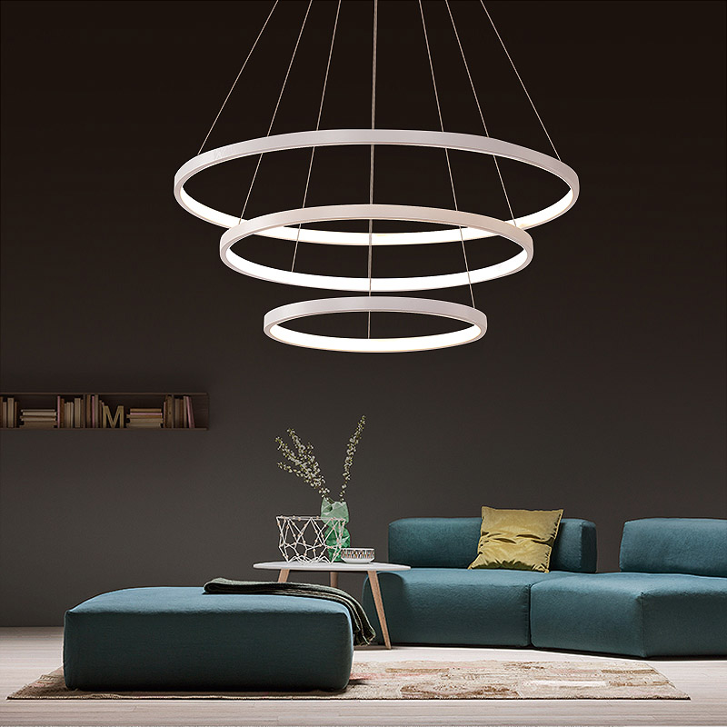 z nordic circle led chandelier modern ring lighting design lighting fixture for bedroom. Black Bedroom Furniture Sets. Home Design Ideas