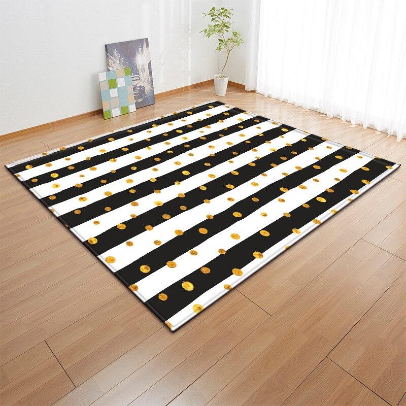 Enfants gris étoiles tapis nordique bébé zone tapis chambre salon canapé enfants tapis doux salon salle à manger tapete personnalisé - 4
