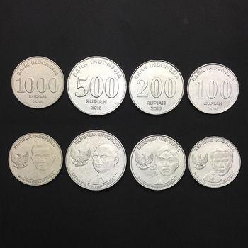 Indonesia Set 4 Coins, 100, 200, 500, 1000 - 100{bc1e7e009ffabacd3336d5940673026b6794798357088c23454e67e400bc5bbe} Real Original Genuine coins