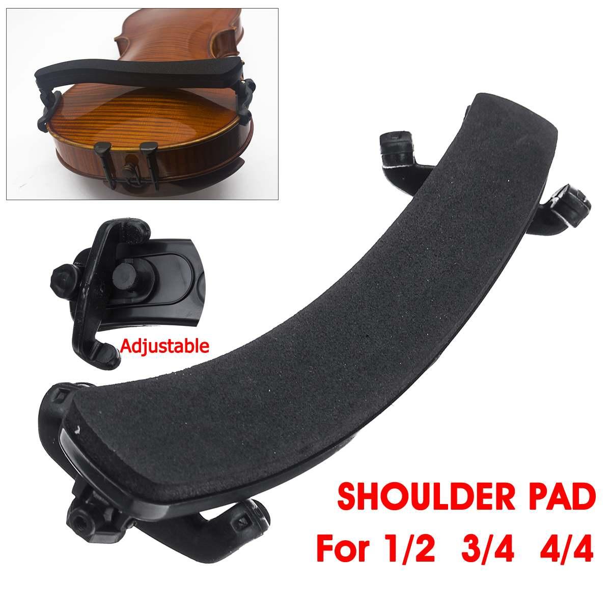 Adjustable Violin Soft Sponge Shoulder Chin Rest Support Cover Protector Pad For 1/2 3/4 4/4 Bridge Type Violin Fiddle Accessori