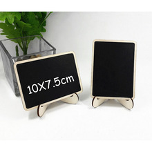 10pcs Rectangle With Angle Shape Mini Blackboard Stick Stand Place Holder Chalkboard Table Number Sign Wedding Party Decor