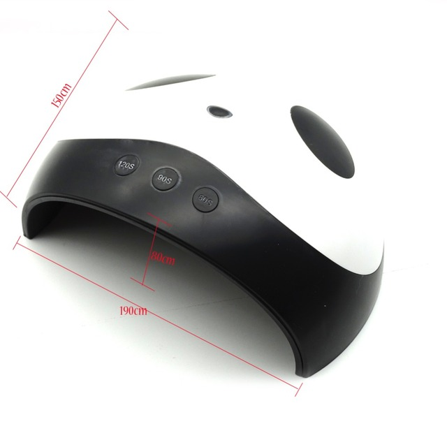 Cute Panda Shaper UV Lamp 36W LED Nail Dryer Manicure Lamps Double Light Auto Motion Drier For Curing Gel Polish Nail Art Tools 4