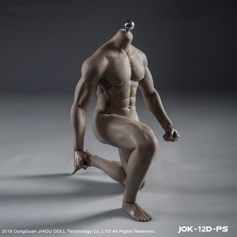 JOK-12D-PS 1/6 Figure  Strong male soldier muscle SUPER Flexible Seamless Body With Metal Skeleton Soldiers Doll Toys