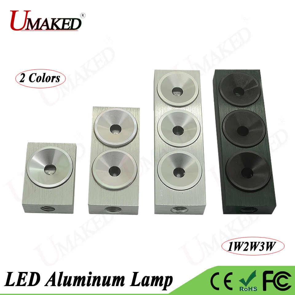 5 pc 1 W 2 W 3 W 5 W LED בסיס אורות מנורת ראש Couter Alumimun מקרה ערכת מנורת תכשיטי הר עם גוף קירור צלחת PCB M8 משלוח חינם