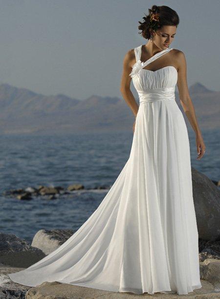 New Halter Straps Handmade Flower Chiffon Beach White Ivory Greece ...