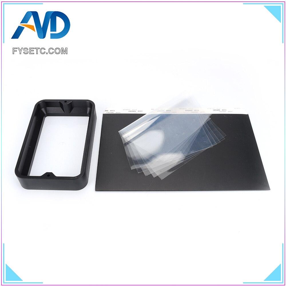 Material Rack Black 104 164 30mm For DLP SLA 3D Printer Anodized Aluminium Resin Vat Steel