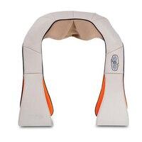HOT Selling Shape Electrical Shiatsu Back Neck Shoulder Massager EU Plug And Flat Plug Car Massage