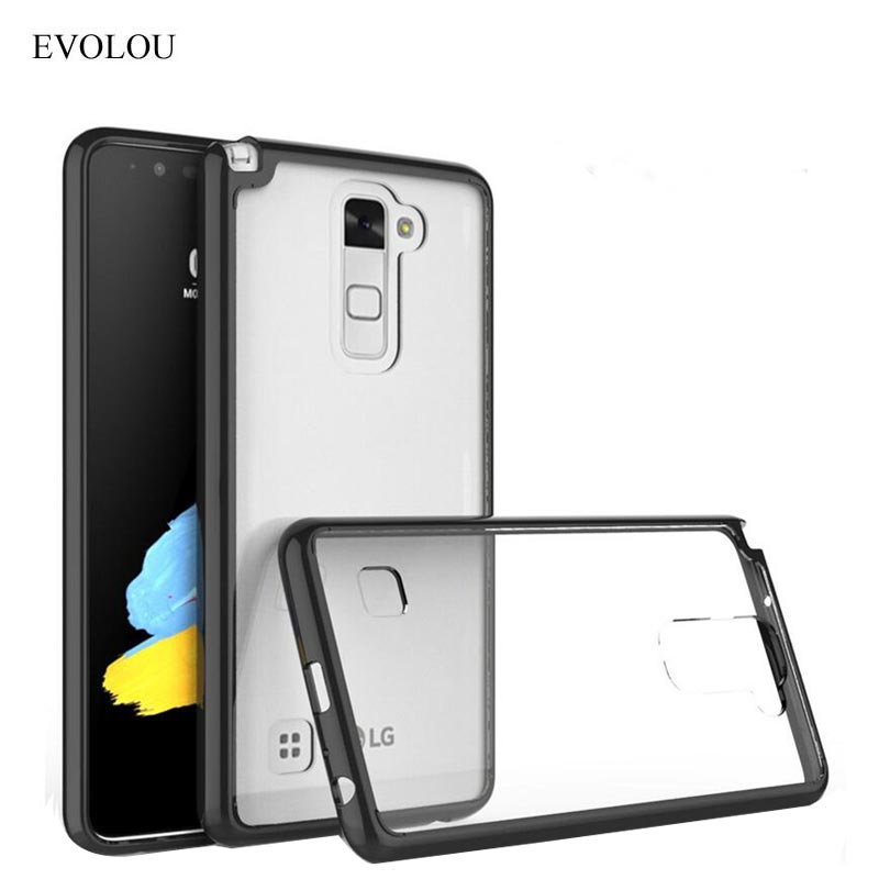 EVOLOU for <font><b>LG</b></font> Stylus 2 Stylo2 <font><b>Case</b></font> Transparent Silicone Acrylic Shockproof Back Cover for <font><b>LG</b></font> LS775 <font><b>G</b></font> <font><b>Stylo</b></font> 2 K520 Phone <font><b>Cases</b></font> image
