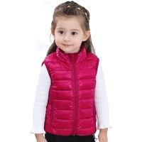 664dd7a12 Girl Winter Warm Down Vest Kids Velvet Vertical Collar Waistcoat Children S  Down Jacket Teens Ultra. Inverno Quente Para Baixo do Colete ...