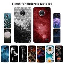 For Motorola Moto E4 Case Scape Painted 5.0