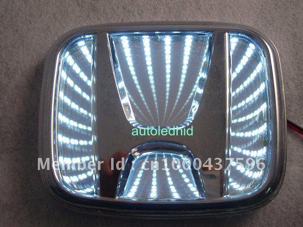 Car Reflective 3d Led Logo Badge Emblem Decal Sticker Lights For