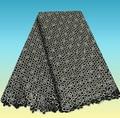 CN1-1! de plata! Popular diseño de bordado tela de encaje del cordón, Moda guipure tela del cordón, cordón soluble en agua para el vestido de fiesta de lujo