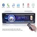 12 В Bluetooth Стерео Автомобилей Радио Аудио MP3 Плеер USB SD APE FLAC WMA WAV AUX В Автомобильной Электроники В Тире Один DIN с ISO кабеля