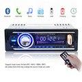 12 V Bluetooth Stereo Audio Radio Del Coche Reproductor de MP3 USB SD APE FLAC WMA WAV AUX En la Electrónica Del Coche En El Tablero de Un DINAR con cable ISO