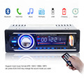 12 V Do Bluetooth Rádio Do Carro de Áudio Estéreo MP3 Player USB SD APE FLAC WAV WMA AUX Na Eletrônica Do Carro In-Dash Um DIN com cabo ISO