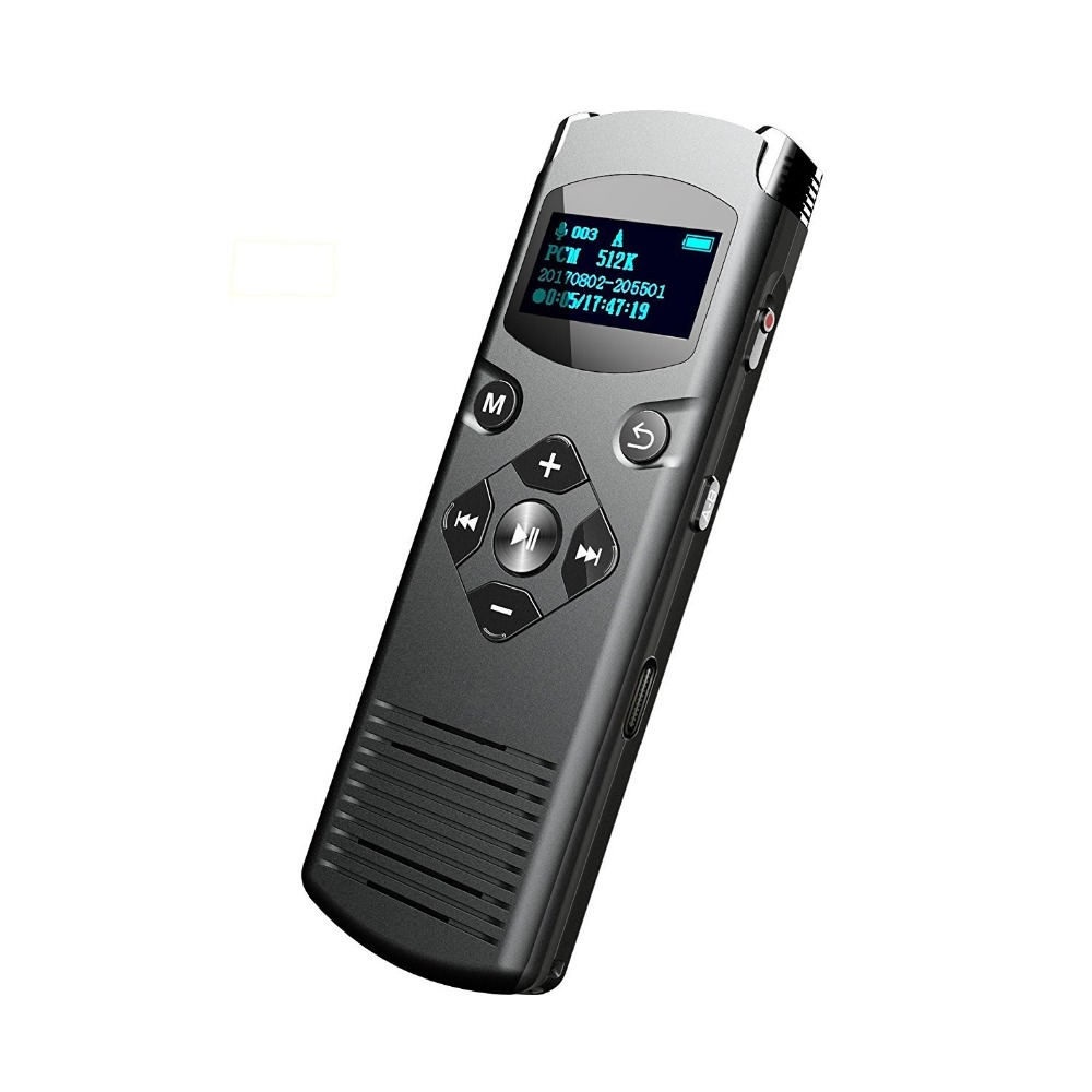 Enregistreur vocal numérique professionnel VOR/VOS dispositif d'enregistrement Audio réduction du bruit enregistreur vocal activé 28 langues