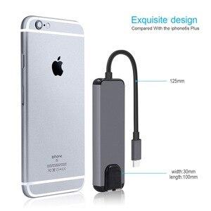 Image 4 - 5 in 1 USB Tipo C Hub Hdmi 4 K USB Rj45 Adattatore Lan per Macbook Pro Charger Porta