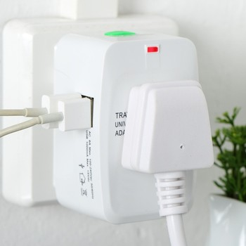 New Universal International Plug Adapter 2 USB Port World Travel AC Power Charger Adaptor with AU US UK EU converter Plug