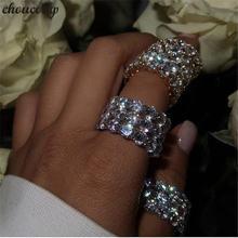 Choucong Вечность палец кольцо из стерлингового серебра 925