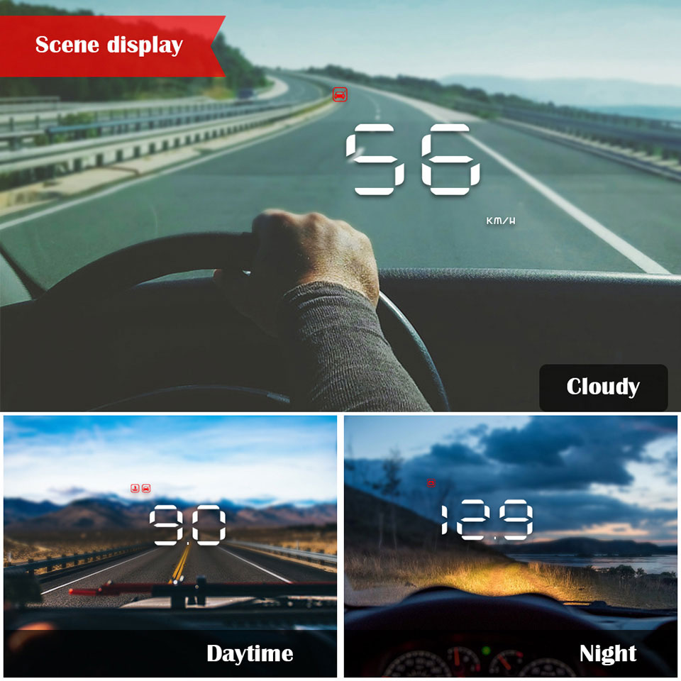 display digital velocímetro brisa projetor fadiga alarme