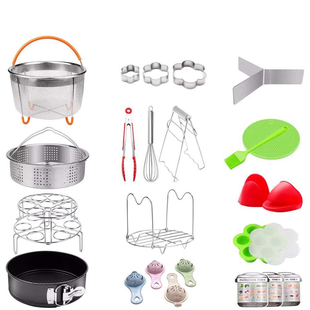 25 pièces autocuiseur accessoires set vapeur panier cuisinière Pot pour la cuisson multifonctionnel cuisine accessoires ustensiles de cuisine