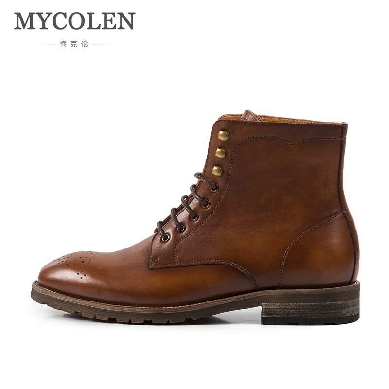 Mycolen Retro Neue Schuhe wein Stiefel Rom Bottes Männlichen Bullock Coffee Marke Lace up Mode brown Männer Frühling rot Winter Bequeme Homme frvfnwxqS6