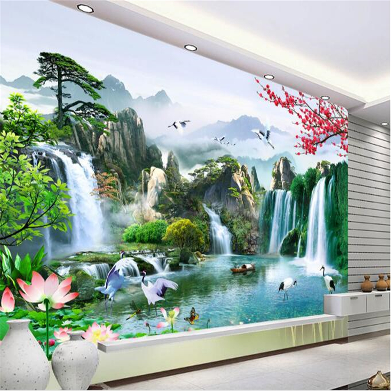 Beibehang 3d Custom Photo Wallpaper Wall Murals Wall Stickers  Beautiful TV Background Wall Papel De Parede Para Quarto Tapety