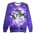 New Fashion Cute Swoop cat Galaxy Space Printed 3D Sweatshirts Men/Womens Long Sleeve Hoodies Casual Harajuku Pullovers Tops