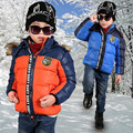 2016 Brand Boy Winter Warm Hooded Coat Thick Cotton-Padded Long Sleeve Jacket Kids Winter Christmas Fashion Boy School Outerwear