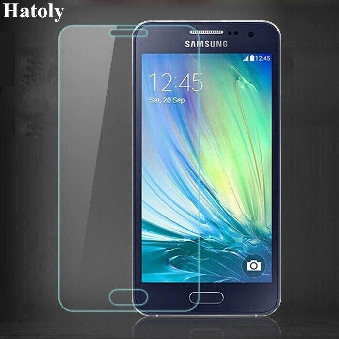 2 יחידות מזג זכוכית עבור Samsung Galaxy A3 2015 מסך מגן עבור סמסונג A3 2015 סרט לסמסונג גלקסי A3 2015 זכוכית HATOLY
