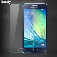 2PCSกระจกนิรภัยสำหรับSamsung Galaxy A3 2015 สำหรับSamsung A3 2015 ฟิล์มสำหรับSamsung Galaxy A3 2015 แก้วHATOLY