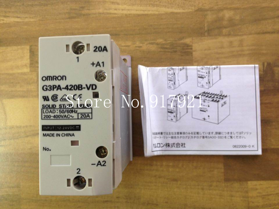 [ZOB] original G3PA-420B-VD 200-400VAC20A 12-24VDC solid state relay (original authentic) --2pcs/lot [zob] original authentic imported omron relay g3fd x03s vd dc4 24 2pcs lot