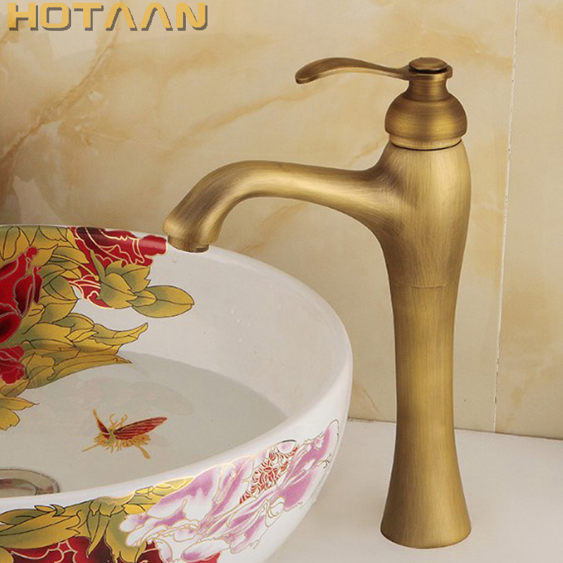 Free shipping Basin Faucet Antique Brass waterfall Bathroom Basin Sink Mixer Tap Crane,torneira YT-5053 free shipping kitchen faucet torneira wall mounted antique brass swivel bathroom basin sink mixer tap crane yt 6035