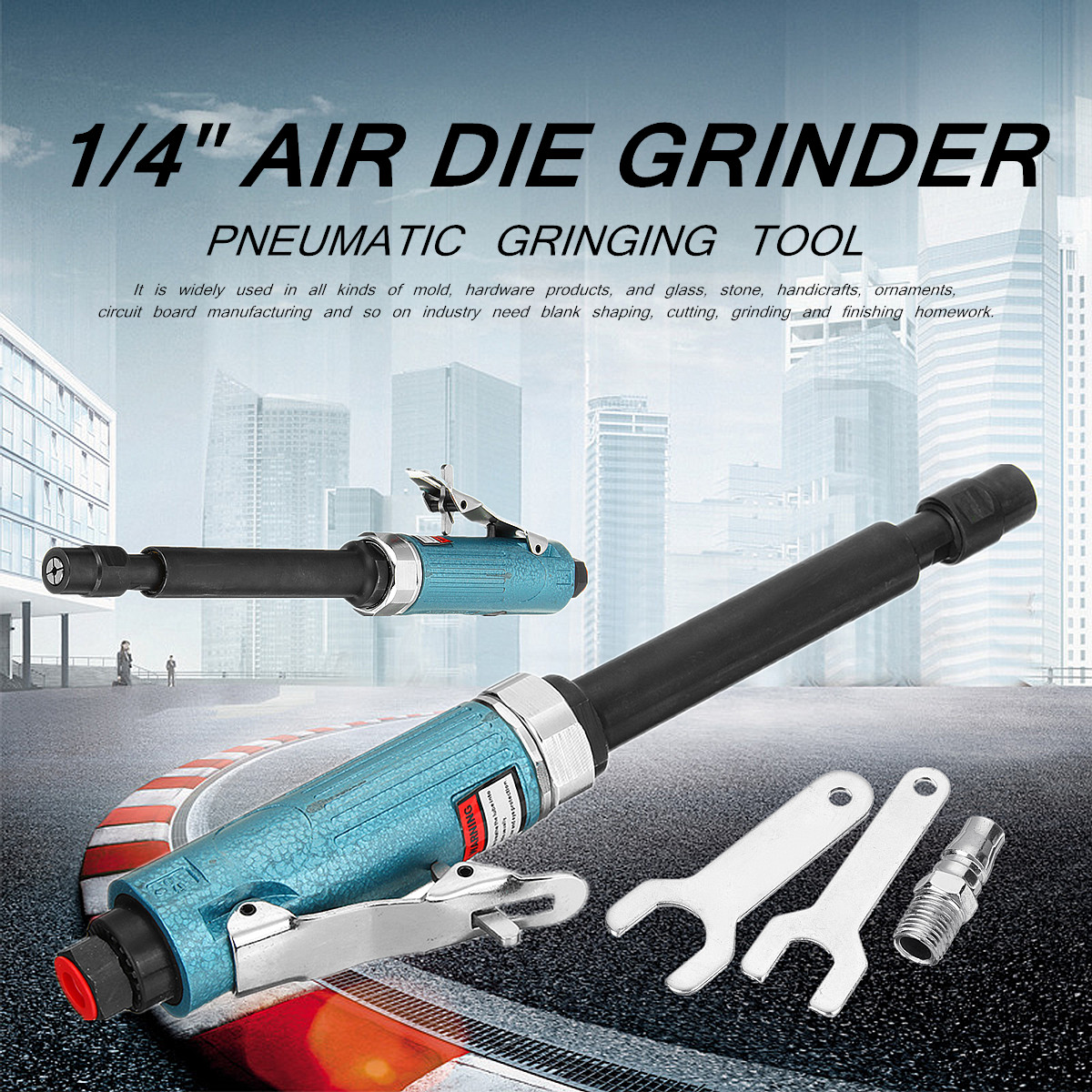 AG-307 Air Pressure 90 PSI 11 Extended Shaft 1/4 Long Air Die Grinder 20000Rpm Pneumatic Grinding Tool High Speed Low Noise ag 307 air pressure 90 psi 11 extended shaft 1 4 long air die grinder 20000rpm pneumatic grinding tool high speed low noise