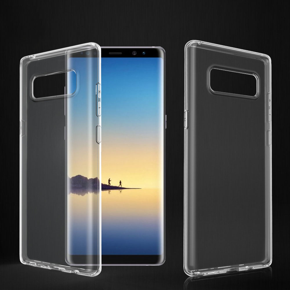 For <font><b>Samsung</b></font> <font><b>Galaxy</b></font> <font><b>Note</b></font> <font><b>8</b></font> N950F N950FD N950U Slim Soft Silicone Gel Clear Case Anti Shock Impact Transparent Phone Back Cover @ image