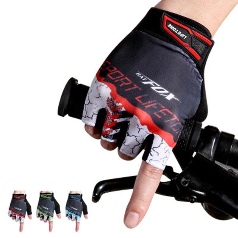 Cheap Fitness Gloves: Men's Cycling Gloves Half Finger Bike Fingerless Sport